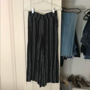 Urban Outfitters Striped Culottes